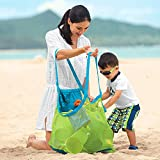 Xplanet Large Mesh Beach Bag, Beach Necessaries Family Beach Toys Shell Bag Toy Storage Bag Stay Away from Sand & Water, Perfect for Holding Toys, Balls, or Other Beach Items