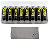 Powerex MH8AAPROBH [2700mAh, 1.2V] Pro AA Low Self Discharge Precharged Rechargeable NiMH Batteries (ONE 8-Pack with Case) & JZS Microfiber Cloth