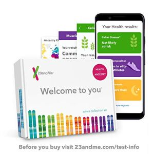 23andMe Health + Ancestry Service: Personal Genetic DNA Test Including Health Predispositions, Carrier Status, Wellness, and Trait Reports