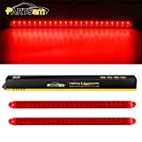 Partsam 2PC Red 17' 23 LED Light Bar Stop Turn Tail Third 3rd Brake Light Car Truck Trailer RV Bus Boat Identification ID Bar Waterproof
