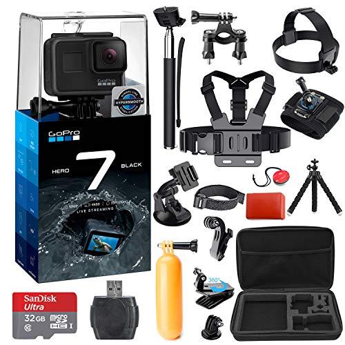 GoPro HERO 7 (Black) Action Camera + 38 Piece Accessory Kit
