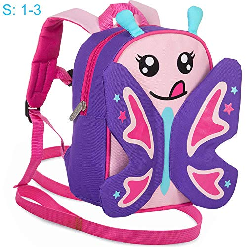 Toddler Leash and Harness Backpack, 9.5' Butterfly Bag Removable Tether