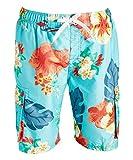 Kanu Surf Men's Legacy Swim Trunks (Regular & Extended Sizes), Papagayo Aqua, Large