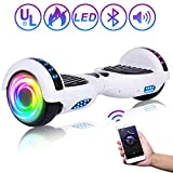 SISIGAD Hoverboard 6.5' Self Balancing Scooter with Colorful LED Wheels Lights Two-Wheels self...