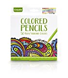 Crayola Colored Pencils, Pre-Sharpened, Adult Coloring, 50 Count, Gift