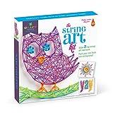 Craft-tastic – String Art Kit – Craft Kit Makes 3 Large String Art Canvases – Owl Edition