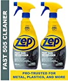 Zep Fast 505 Cleaner & Degreaser for Grills, Metal, Plastics and more 32 ounces (Pack of 2)