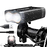 Victagen USB Rechargeable Bike Light,Super Bright 2400 Lumens and Free Bike Tail Light Helmet Light, Waterproof Bicycle Headlight and Taillight, Easy to Mount Fits for Mountain Road Kids Bikes