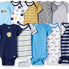 Gerber Baby Boys' 10-Pack Short-Sleeve Onesies Bodysuit