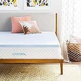 Linenspa 2 Inch Gel Infused Memory Foam Mattress Topper, Queen