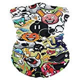 Various Cartoon Characters Background Balaclava Womens Headband Scarf Mens Versatile Bandana, Muffler, Neck Gaiter, Magic, Headwrap Neckerchief