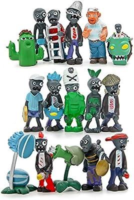 Amazon Com Plants Vs Zombies Series Pvc Toys 16 Piece Toys Games