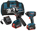 Bosch CLPK222-181 18-volt Lithium-Ion 2-Tool Combo Kit with 1/2-Inch Hammer Drill/Driver and 1/4-Inch Hex Impact Driver
