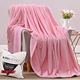 Kawahoney Faux Mink Nebula Fleece Blanket Pink Queen 130% Thicker Than Blankets of Equal Weight Customized for Luxury Life Durable Cozy Warm Super Soft Fluffy Fuzzy Couch Sofa Bed Blanket