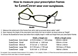LensCovers Wear Over Sunglasses Small Brown Frame with Brown Lens - Fit Over Style