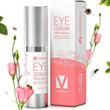 Best Eye Serum with BEE VENOM for Wrinkles, Fine Lines, Dark Circles, Puffiness & Bags - With Hyaluronic Acid, Peptides & Shea Butter - 100% ORGANIC - Made in USA - Anti Aging Moisturizer Serum