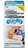 3M Heavy Duty Headlight Restoration Kit, Includes Extreme UV Protection, Lasts Up to 4X Longer, Drill Application, 1 Kit