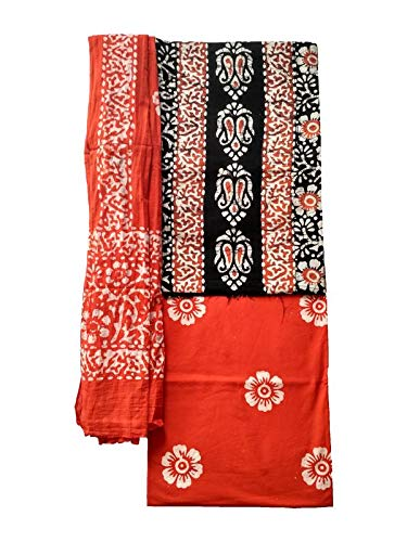Batik Printed 3 Piece Cotton Dress Material by IndianPrints
