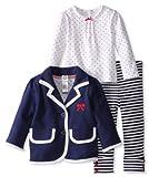 Little Me Baby Girls' Bow Blazer 3 Piece Jacket Set