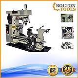 Bolton Tools 16' x 20' Combo Metal Lathe/Mill Drill Runs On 2 Separate Motors | BT500