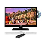 Pyle 23.6' 1080p LED TV, Multimedia Disc Player, Ultra HD TV, LED Hi Res Widescreen Monitor w/HDMI Cable RCA Input, LED TV Monitor, Audio Streaming, Mac PC, Stereo Speakers, Wall Mount (PTVDLED24)