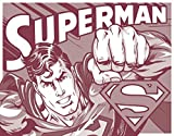 Superman Tin Metal Sign : Duotone , 16x13