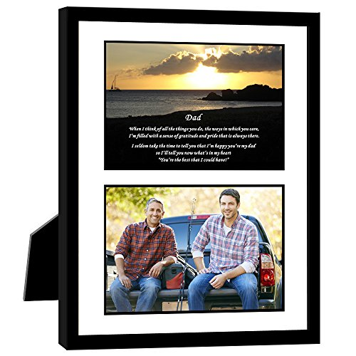 Gift for Dad - Touching Poem From Son or Daughter - Birthday or Father's Day - 8x10 Inch Frame with Mat - Add Photo
