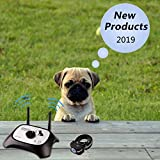 OKPET Wireless Dog Fence Electric Pet Containment System, Safe Effective Beep/Shock Dog Fence, Adjustable Control Range 1000 Feet & Display Distance, Rechargeable Waterproof Collar Receiver