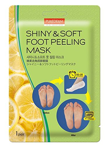 3-Pair Foot Peeling Mask Set By Purederm – Exfoliating Foot Peel Spa Mask For Baby Soft Skin W/Sunflower Seed Oil & Lemon Extract – For Men & Women – Removes Dead Skin & Calluses In 2 Weeks