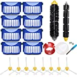 LOVECO Replacement Accessory Kit for iRobot Roomba 600 Series 690 680 660 650 (Not for 645 655) & 500 Series 595 585 564, 8 Filter, 8 Side Brush,1 Bristle and Flexible Beater Brush,1 Cleaning Tool