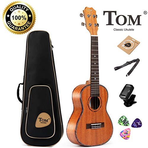 Concert Ukulele Bundle,23 inch Professional Tom Baritone Ukulele Starter Small Guitar Beginner African Mahogany for sale