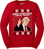 Make Christmas Great Again Funny Ugly Christmas Unisex Crew Neck Sweatshirt (Red) XL