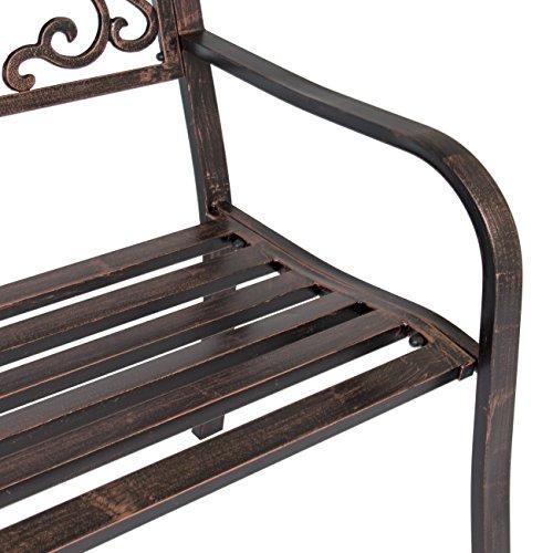 10267c9a0ae5 Patio and Garden Steel Frame Park Bench   Bronze