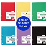 Mead Spiral Notebook, 1 Subject, Wide Ruled Paper, 70 Sheets, 10-1/2' x 7-1/2', Color Selected For You (05510)
