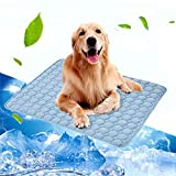 laamei Dog Cooling Mat,Dog Crate Mat, Soft Cooling Mat for Dogs Cats Kennel Mat Breathable Pet Crate Pad Sleep Mat for Sofa Carrier Bag Bed Mats Small Blue