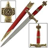 King Solomon Medieval Crusader Dagger Red