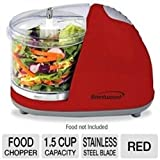 Food Processors Brentwood Mini Food Chopper, Red, Small Appliances, Processor Cooking Cutting