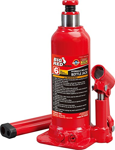 Torin Big Red Hydraulic Bottle Jack, 6 Ton Capacity