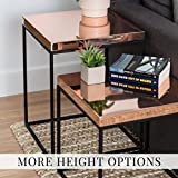 Product review for Steel Cube w/ Rose Gold Top - Minimal Side Table, End Table, or Stool