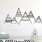 WSLIUXU Cartoon Mountain Nursery Wall Sticker Vinyl Woodland Baby Child Bedroom Wall Sticker Flower Removable Home Decor Wall Sticker Home Gardening Gray 27 26x56cm