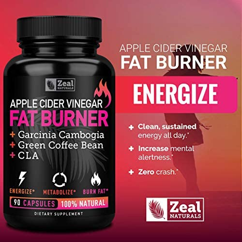 Apple Cider Vinegar Weight Loss Pills for Women - Garcinia Cambogia + Apple Cider Vinegar Pills for Weight Loss w. CLA & Green Coffee Bean Green Tea Fat Burner Pills - Detox Cleanse Weight Loss Pills 8