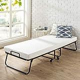 Zinus Roll Away Folding Guest Bed Frame with 4 Inch Comfort Foam Mattress, Standard Twin
