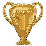 """Amscan International Gold Trophy Super Shape Foil Balloons 28"""""""