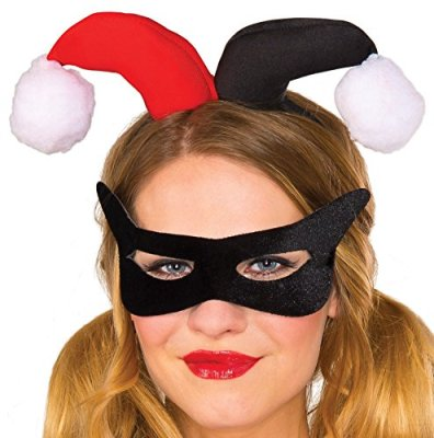 Rubies-Womens-DC-Comics-Harley-Quinn-Eye-Mask-and-Headpiece