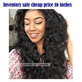Premier Loose Curly Wave Lace Front Wigs Brazilian Remy Human Hair 130% Density Natural Wave Human Hair Wigs For Black Woman With Baby Hair 16 Inches Natural Color Wigs