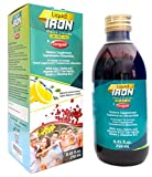 Ceregumil Liquid Iron Supplement for Anemia w/Cyanocobalamin Vitamin B12 - Folic Acid - with Fresh Lemon Taste Energy Booster High Potency Gluten Free - 250 mL