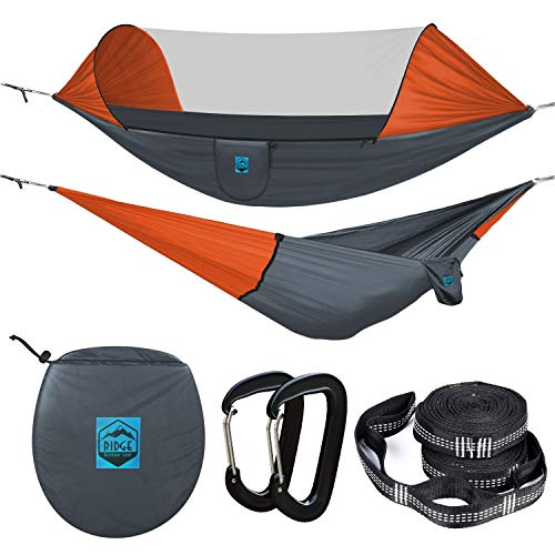Ridge Outdoor Gear Camping Hammock with Mosquito...