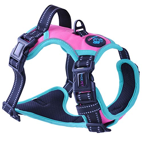 PHOEPET 2019 Upgraded No Pull Dog Harness,3M Reflective Adjustable Vest, with a...