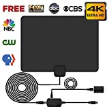 Biling TV Antenna for Digital TV Indoor, 120 Miles TV Antenna Indoor Amplified HDTV Antenna, Digital HDTV Antenna Long Range with Amplifier Signal Booster - 16.6 Feet Coax Cable/USB Power Adapter