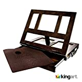 KINGART 704 Wood Tabletop Easel with Drawer, One Size, Espresso
